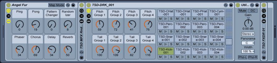 Drum Bits for Ableton Live 9 - Macro Controls